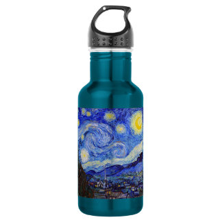 vincent, van, gogh, starry and night 532 ml water bottle