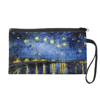 Vincent Van Gogh Starry Night 1888 Wristlet Clutches