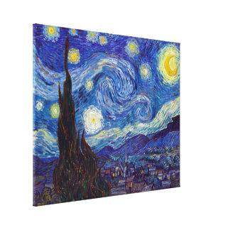 VINCENT VAN GOGH - Starry night 1889 Canvas Print