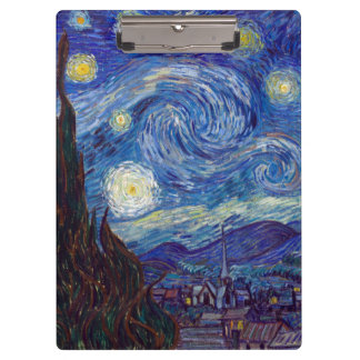 VINCENT VAN GOGH - Starry night 1889 Clipboard