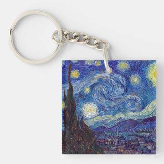 VINCENT VAN GOGH - Starry night 1889 Keychain