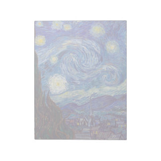 VINCENT VAN GOGH - Starry night 1889 Notepad