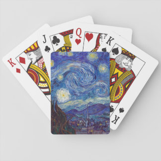 VINCENT VAN GOGH - Starry night 1889 Playing Cards