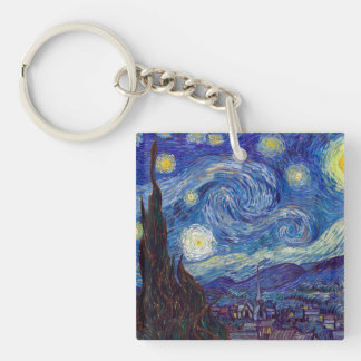 VINCENT VAN GOGH - Starry night 1889 Single-Sided Square Acrylic Keychain