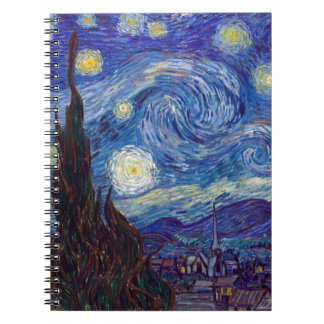 VINCENT VAN GOGH - Starry night 1889 Spiral Notebooks