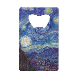 VINCENT VAN GOGH - Starry night 1889 Wallet Bottle Opener