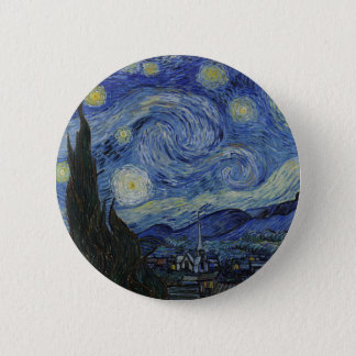 Vincent Van Gogh - Starry Night. Art Painting 2 Inch Round Button