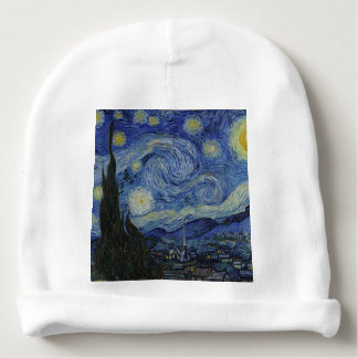 Vincent Van Gogh - Starry Night. Art Painting Baby Beanie