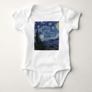 Vincent Van Gogh - Starry Night. Art Painting Baby Bodysuit