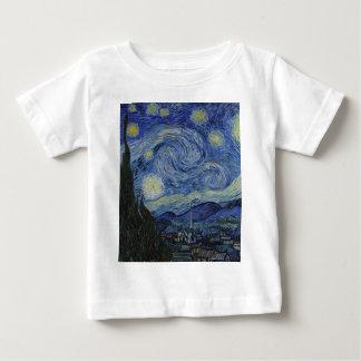 Vincent Van Gogh - Starry Night. Art Painting Baby T-Shirt