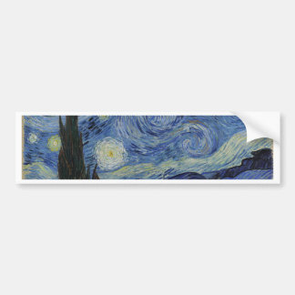 Vincent Van Gogh - Starry Night. Art Painting Bumper Sticker