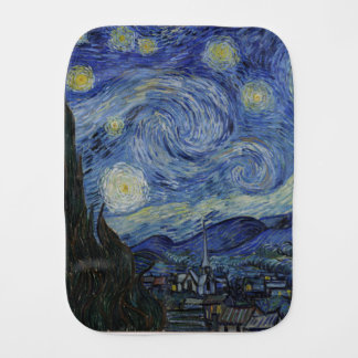 Vincent Van Gogh - Starry Night. Art Painting Burp Cloth