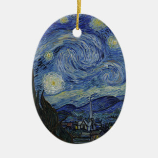 Vincent Van Gogh - Starry Night. Art Painting Ceramic Ornament