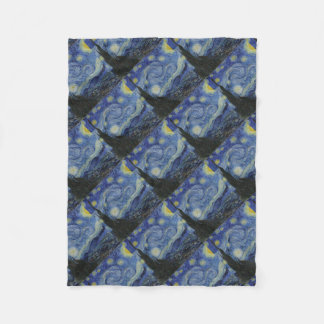 Vincent Van Gogh - Starry Night. Art Painting Fleece Blanket