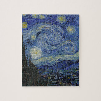 Vincent Van Gogh - Starry Night. Art Painting Jigsaw Puzzle