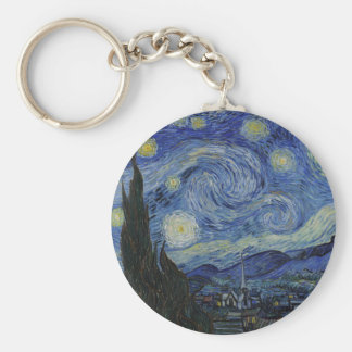Vincent Van Gogh - Starry Night. Art Painting Keychain