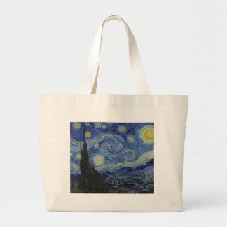 Vincent Van Gogh - Starry Night. Art Painting Large Tote Bag