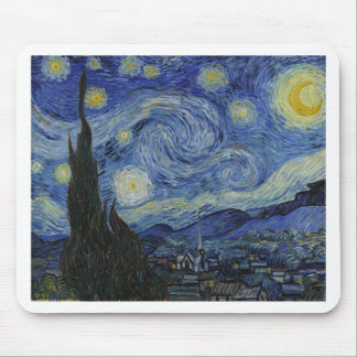 Vincent Van Gogh - Starry Night. Art Painting Mouse Pad