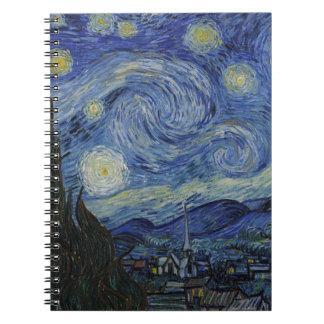 Vincent Van Gogh - Starry Night. Art Painting Notebook