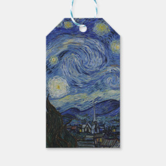 Vincent Van Gogh - Starry Night. Art Painting Pack Of Gift Tags