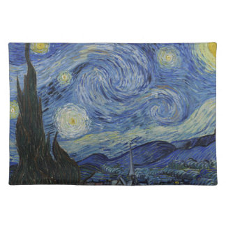 Vincent Van Gogh - Starry Night. Art Painting Placemat