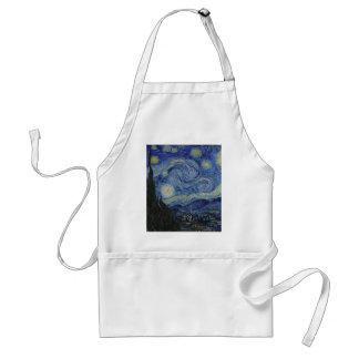 Vincent Van Gogh - Starry Night. Art Painting Standard Apron