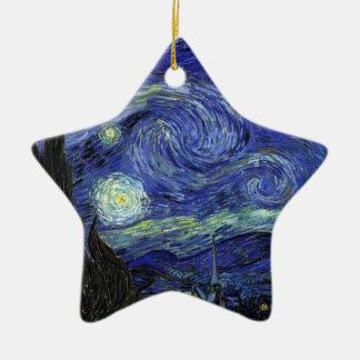 Vincent van Gogh, Starry Night Ceramic Star Ornament