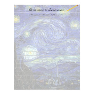 Vincent van Gogh, Starry Night Custom Letterhead