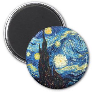 Vincent Van Gogh Starry Night Fine Art Magnet