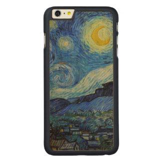 Vincent van Gogh Starry Night GalleryHD Fine Art Carved Maple iPhone 6 Plus Case