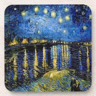 Vincent Van Gogh Starry Night Over The Rhone 1888 Beverage Coaster