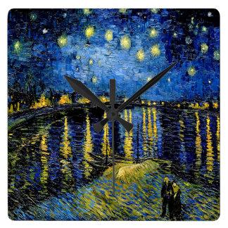 Vincent Van Gogh Starry Night Over The Rhone 1888 Clocks