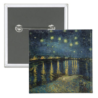 Vincent van Gogh | Starry Night Over the Rhone 2 Inch Square Button