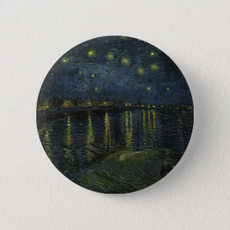 Vincent Van Gogh Starry Night Over the Rhone Art 2 Inch Round Button