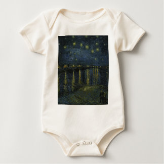 Vincent Van Gogh Starry Night Over the Rhone Art Baby Bodysuit