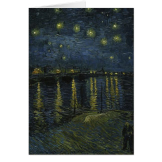 Vincent Van Gogh Starry Night Over the Rhone Art Card