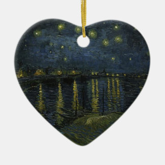 Vincent Van Gogh Starry Night Over the Rhone Art Ceramic Ornament