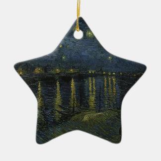 Vincent Van Gogh Starry Night Over the Rhone Art Ceramic Star Ornament