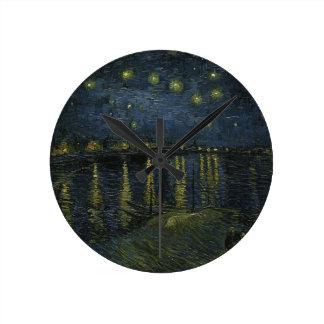 Vincent Van Gogh Starry Night Over the Rhone Art Clocks