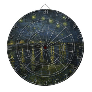 Vincent Van Gogh Starry Night Over the Rhone Art Dartboard