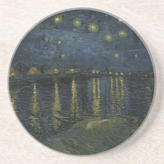 Vincent Van Gogh Starry Night Over the Rhone Art Drink Coasters