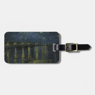 Vincent Van Gogh Starry Night Over the Rhone Art Luggage Tag
