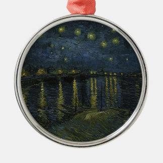 Vincent Van Gogh Starry Night Over the Rhone Art Metal Ornament