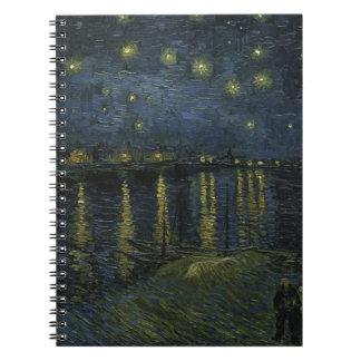 Vincent Van Gogh Starry Night Over the Rhone Art Notebook