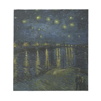 Vincent Van Gogh Starry Night Over the Rhone Art Notepad