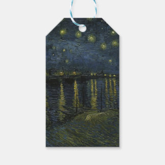 Vincent Van Gogh Starry Night Over the Rhone Art Pack Of Gift Tags