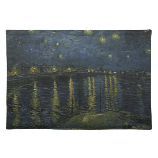 Vincent Van Gogh Starry Night Over the Rhone Art Placemat