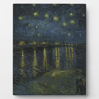 Vincent Van Gogh Starry Night Over the Rhone Art Plaque