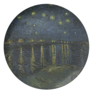 Vincent Van Gogh Starry Night Over the Rhone Art Plate
