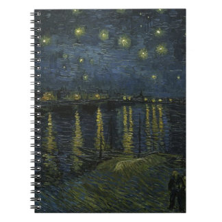 Vincent Van Gogh Starry Night Over the Rhone Art Spiral Notebook
